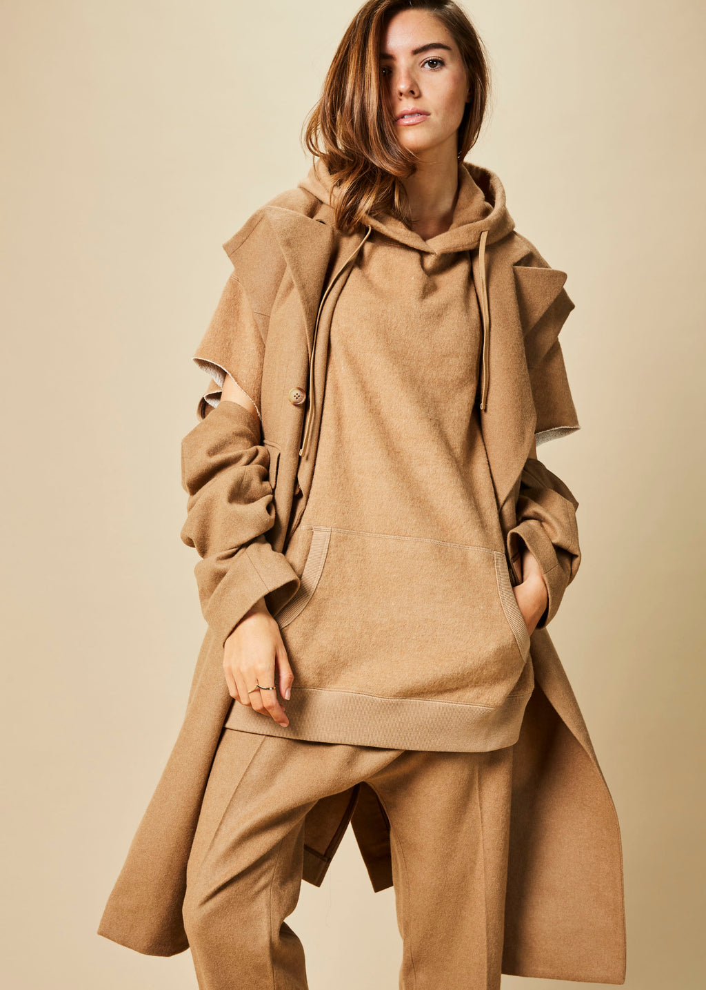 Peak Lapel Wrap Coat