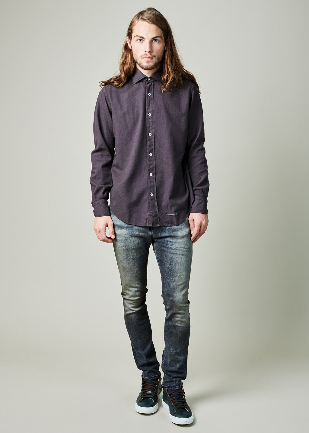 Contemporary Fit Wool Blend Shirt