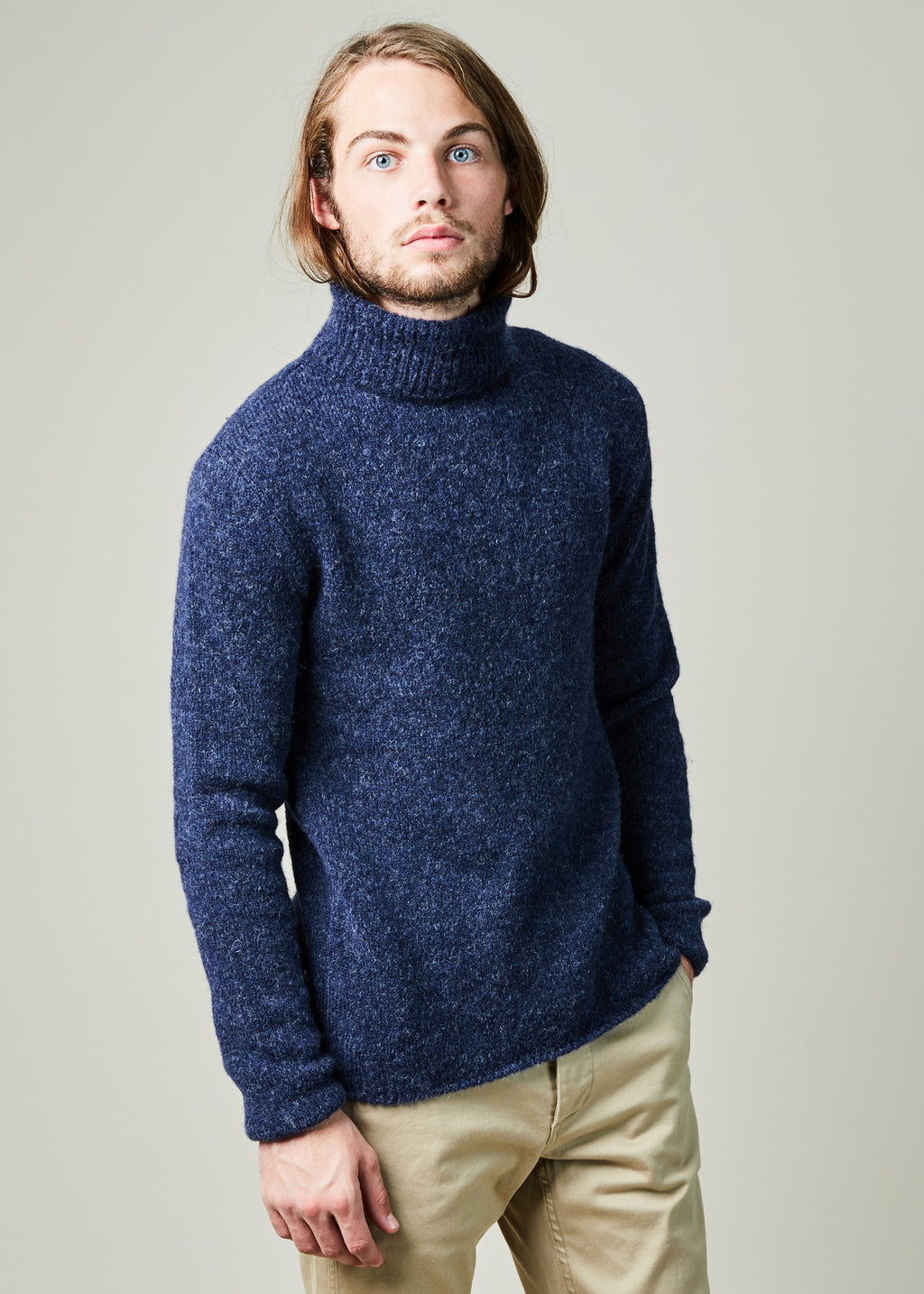 Alpaca Knit Turtleneck Sweater