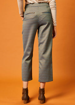 Brocade Side-Zip Pant