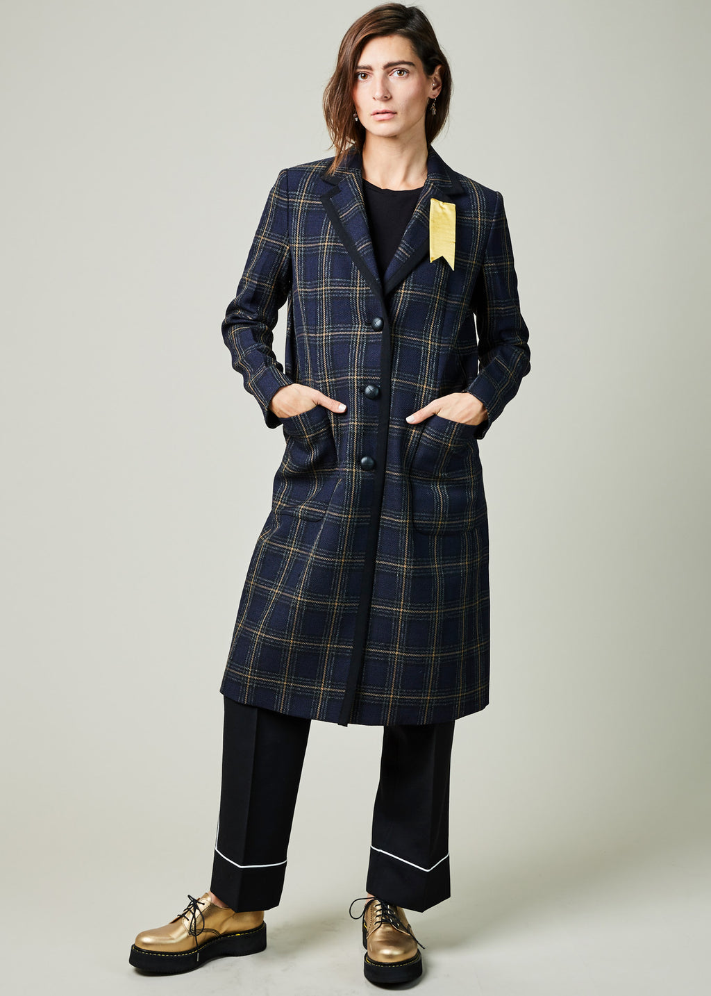 Marta Plaid Overcoat