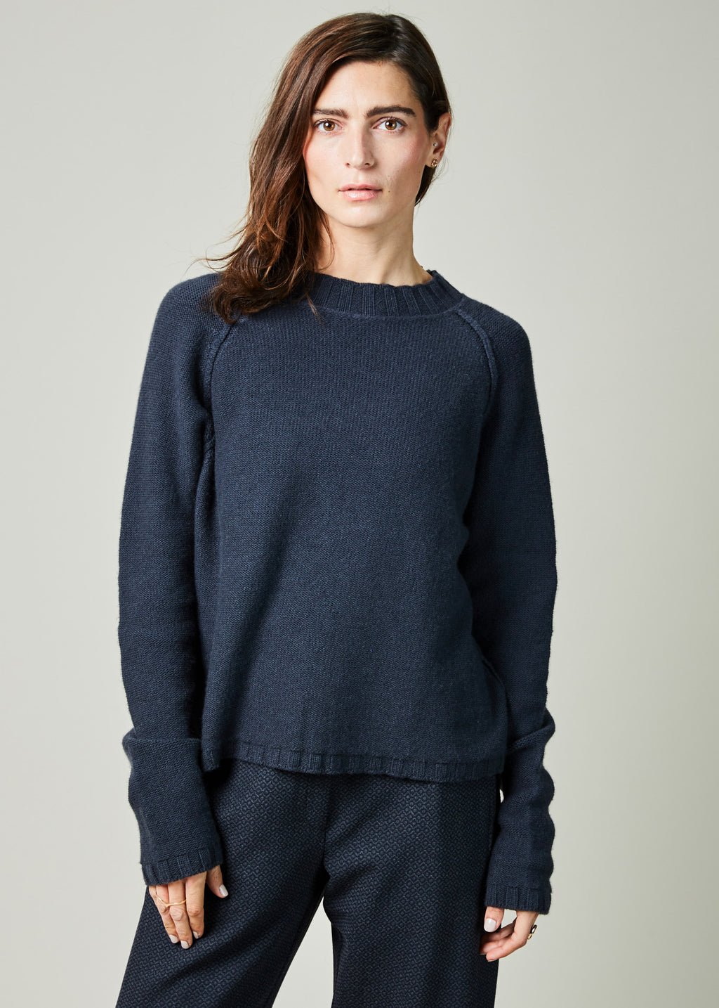 Rib Collar Cashmere Sweater