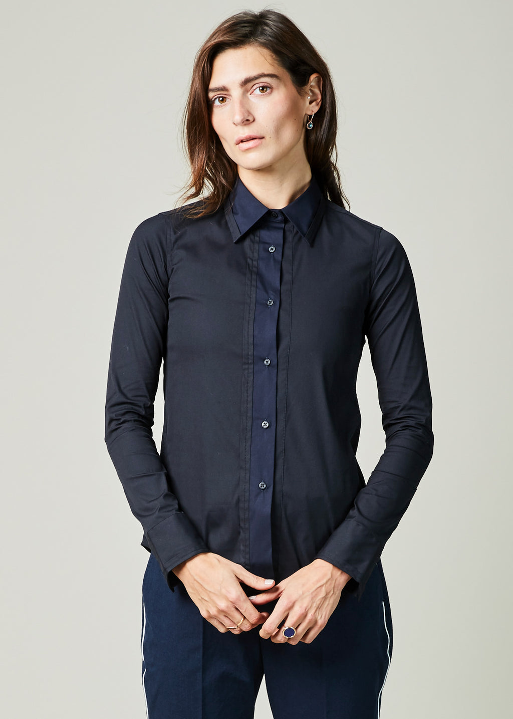 Stacy Two-Tone Shirt