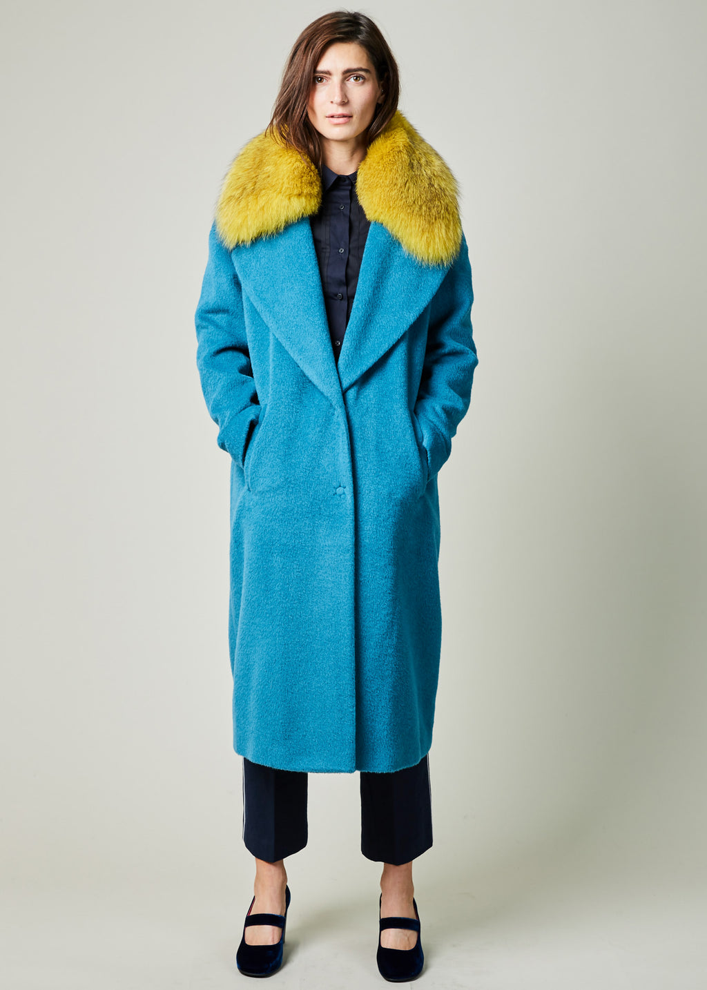 Shawl Collar Wool Coat