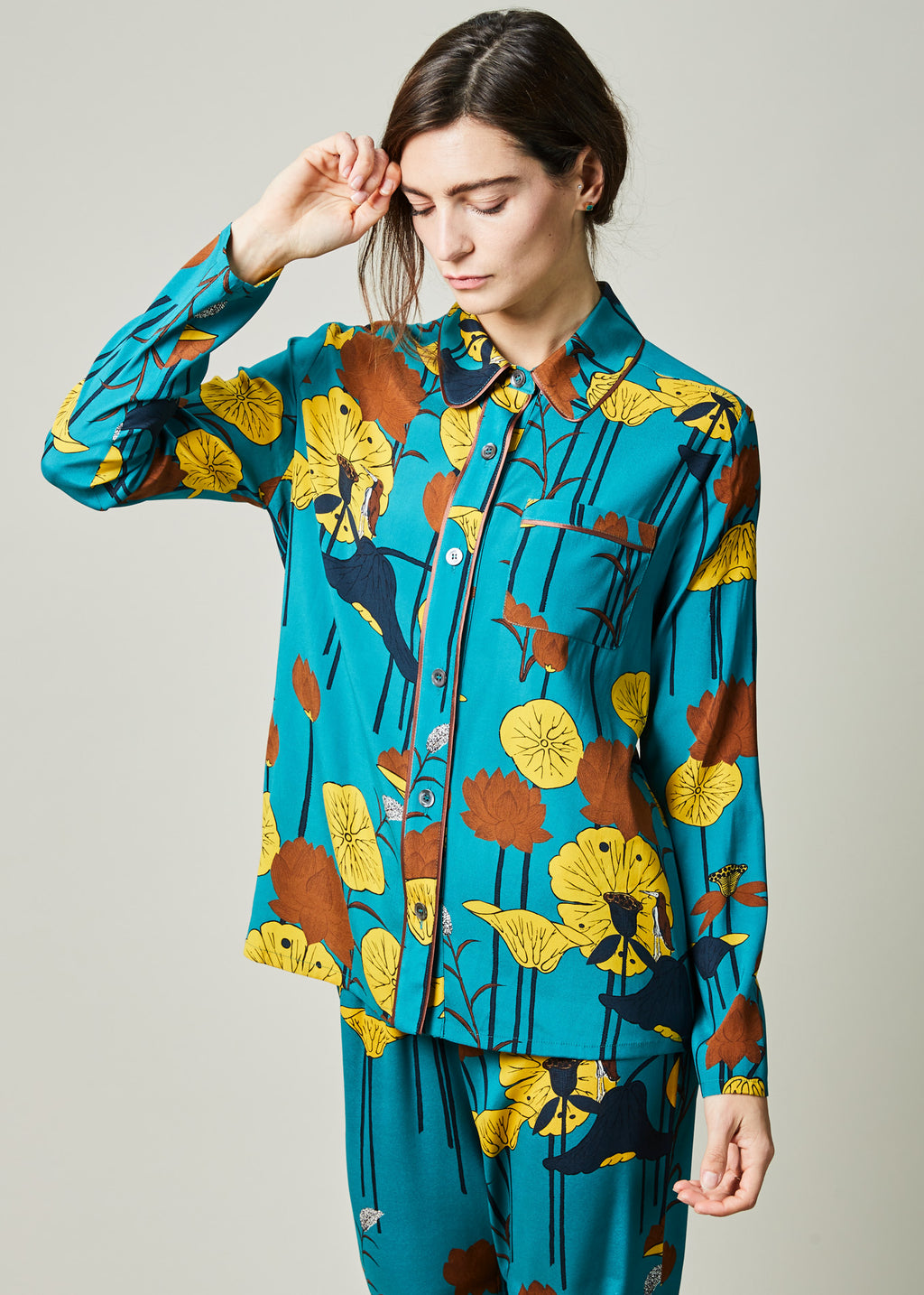 Lotus Flower Pajama Shirt