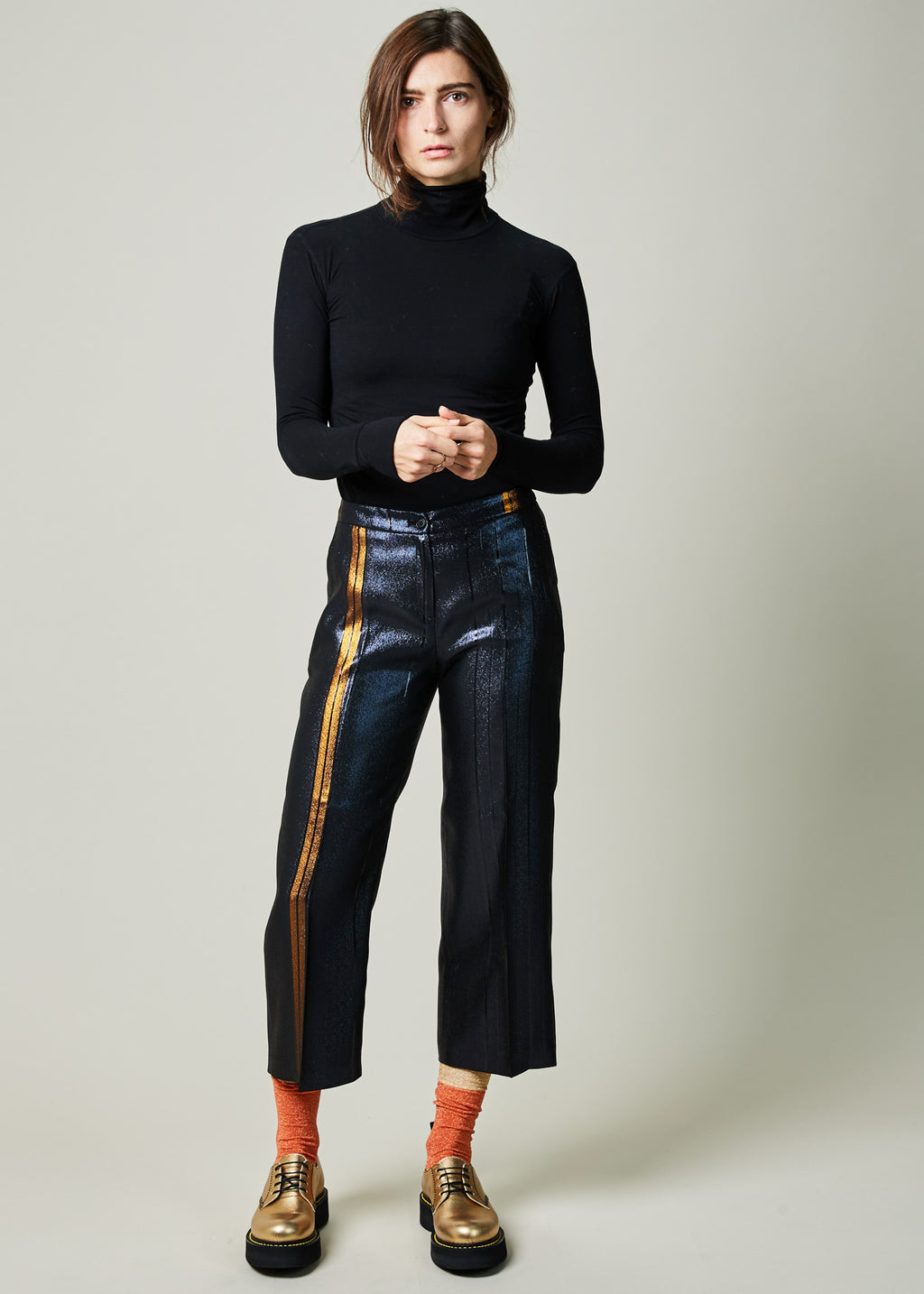 Striped Shiny Culotte