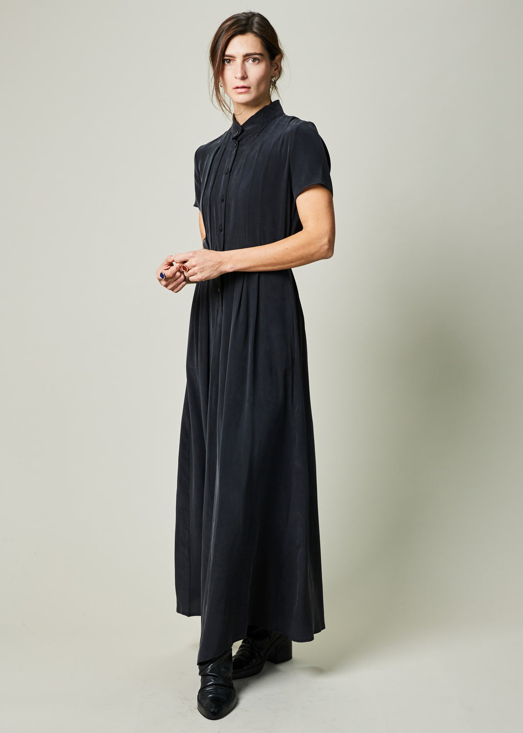 Jayne Silk Crepe Dress