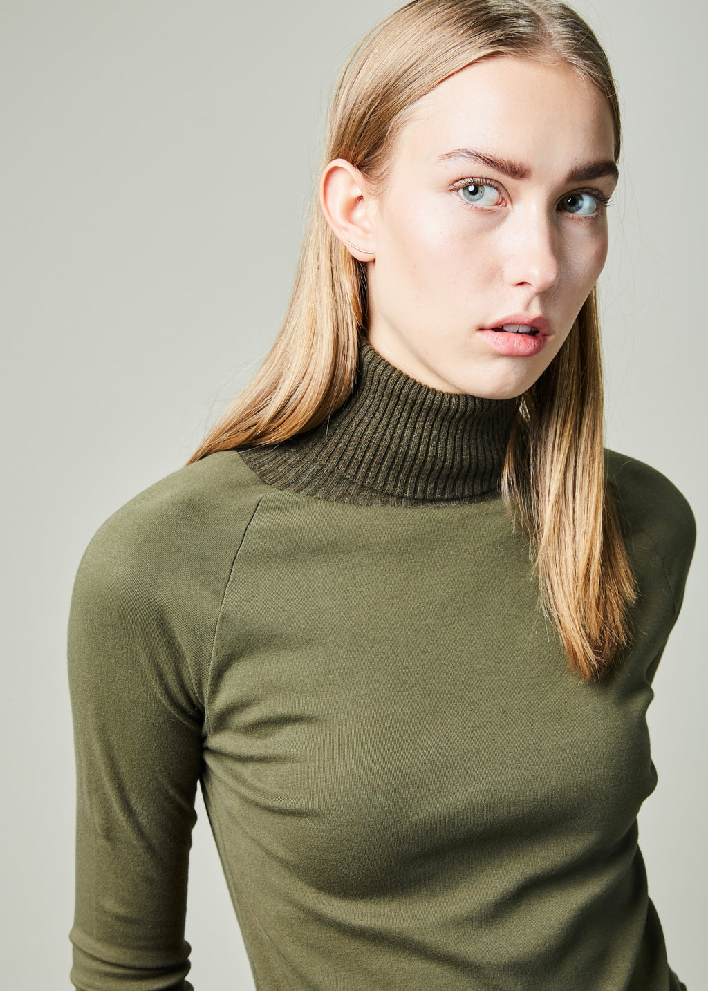 Roll Neck Long Sleeve Tee