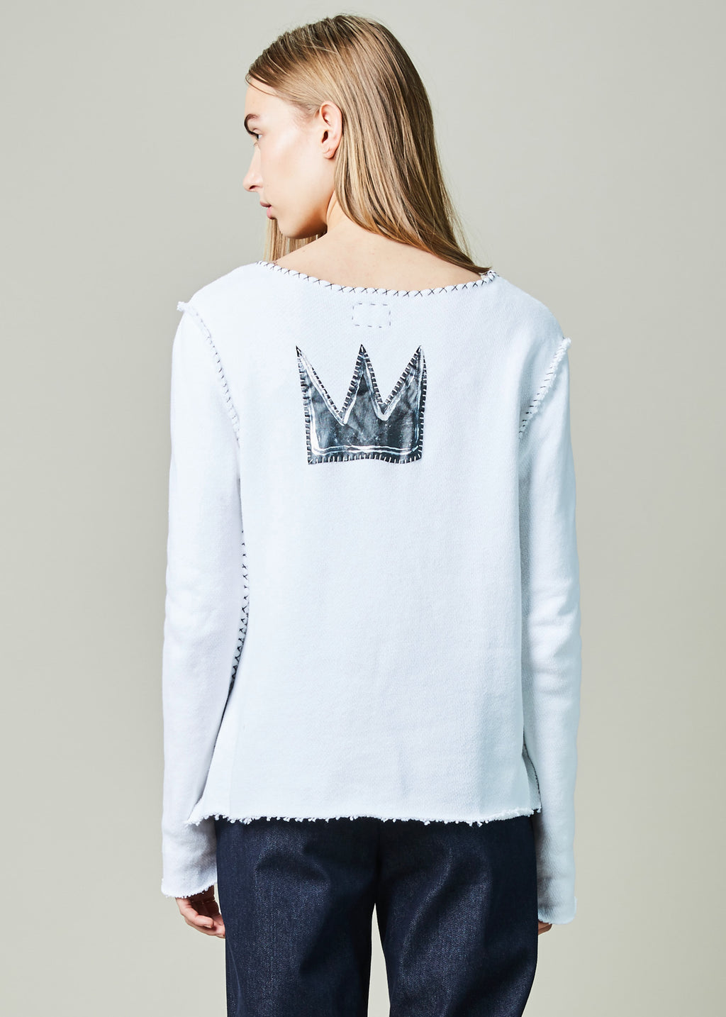 Crown Applique Sweatshirt
