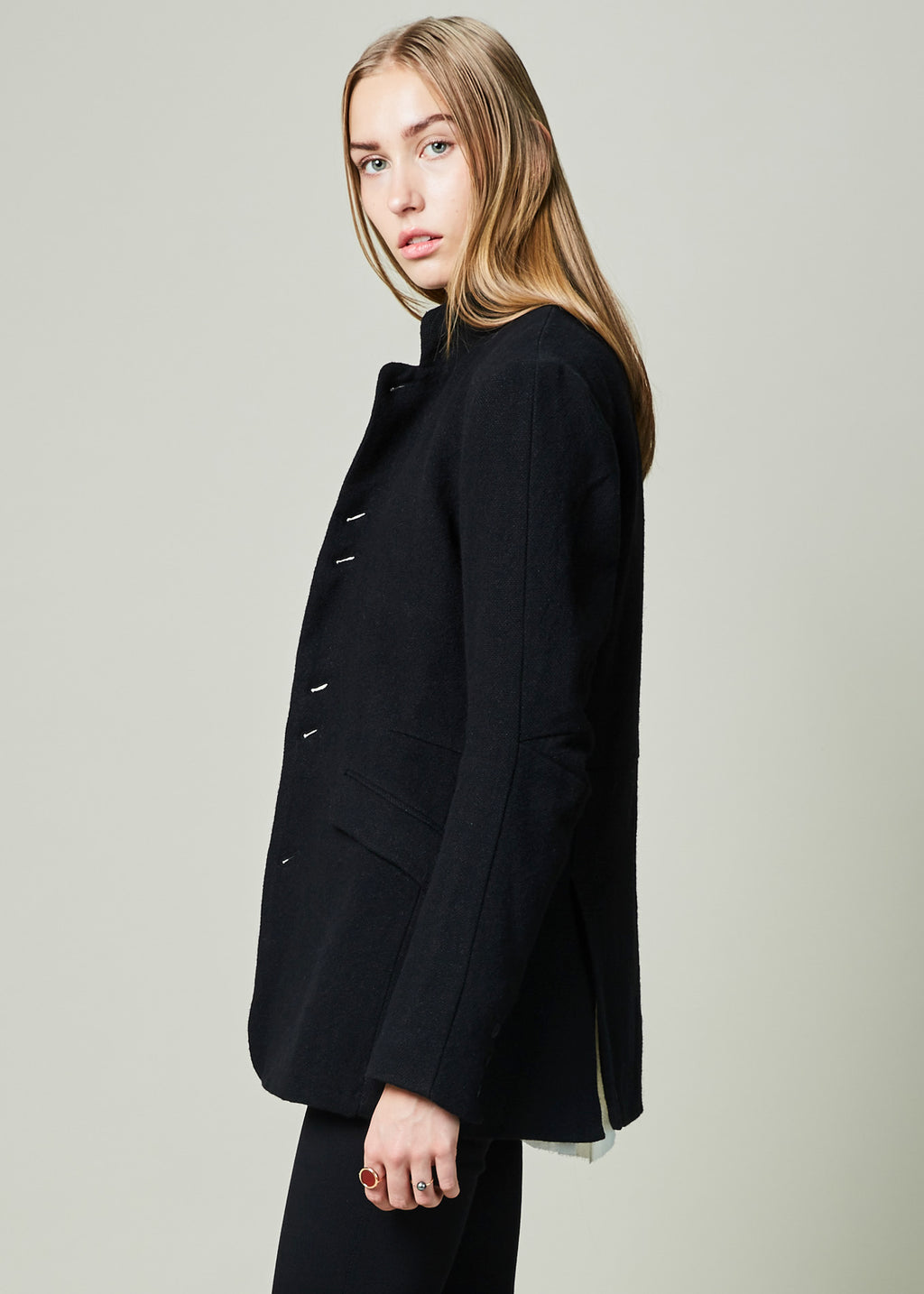 Curved Elbow Coat