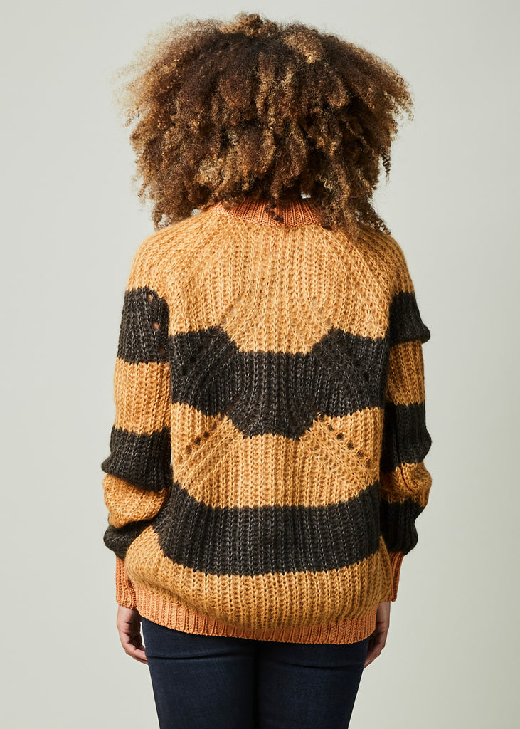 Striped Mohair Cloud Sweater