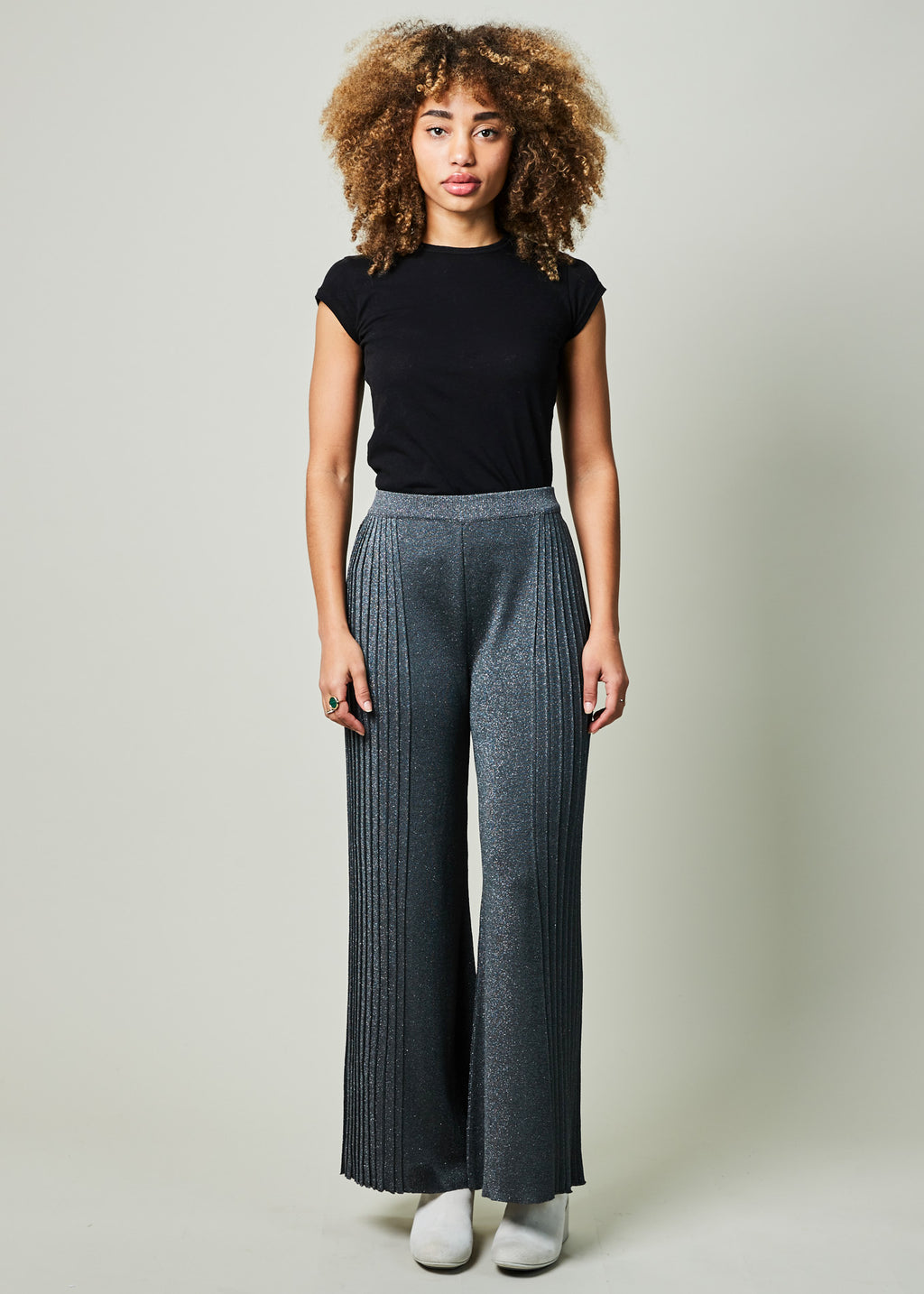 Wide Leg Lurex Pant