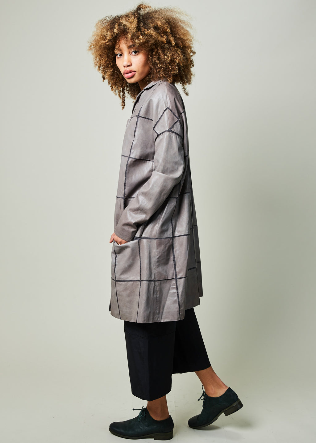 Limbo Leather Patch Coat