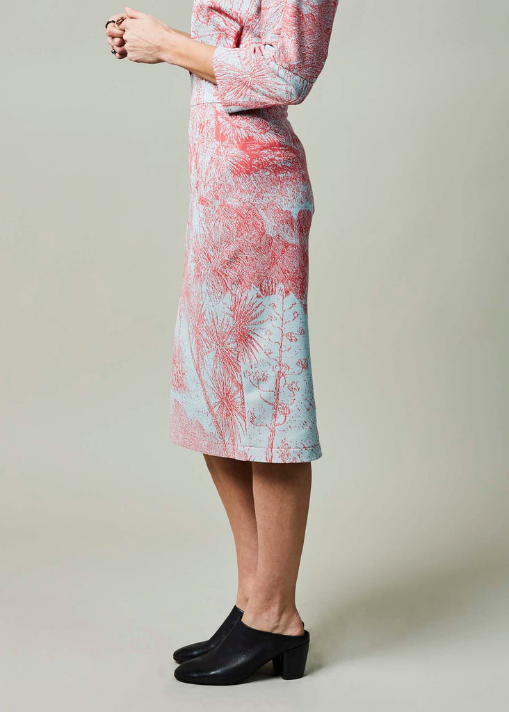 Floral Woven Fitted Skirt