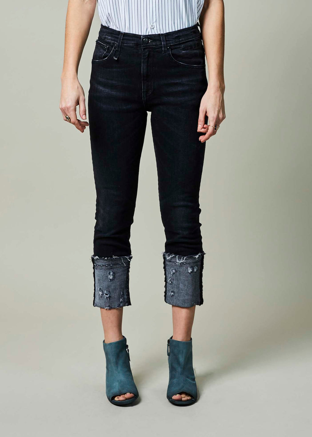 High Rise Skinny Jean with Cuff