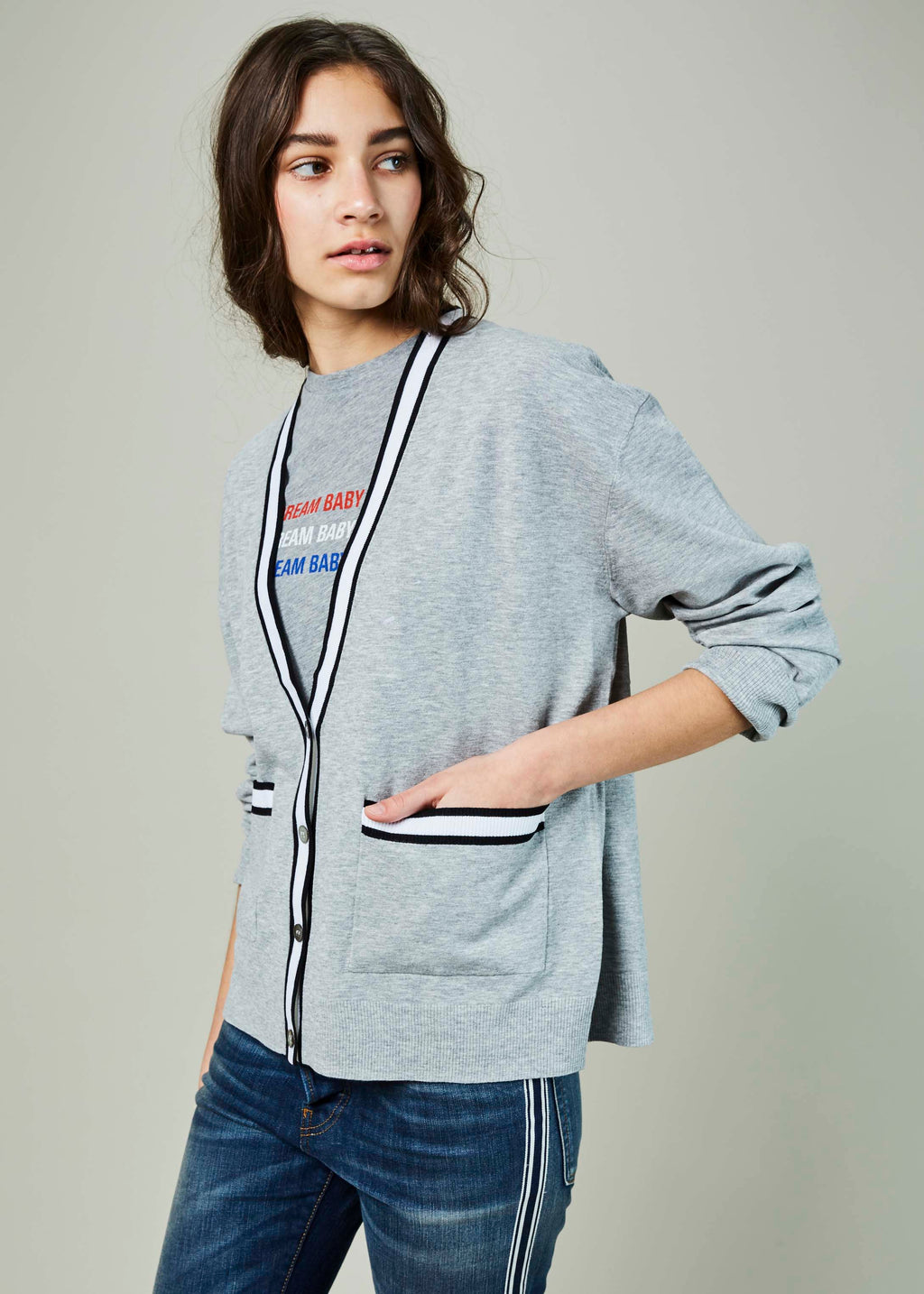 Tipped Oversize Cardigan