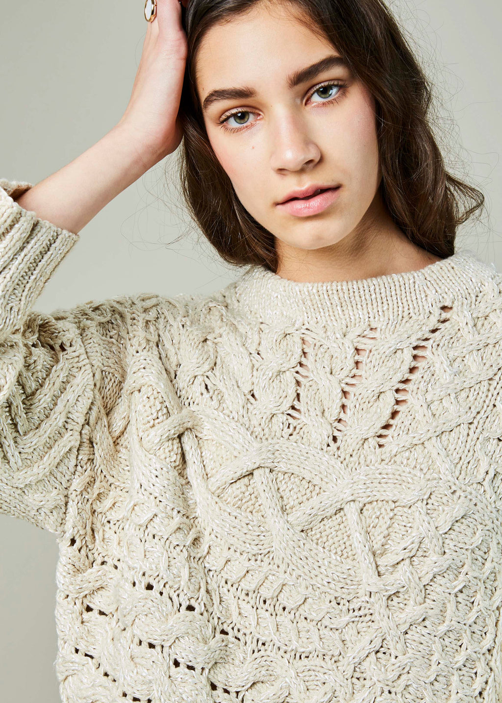 Voyage Cable Knit Sweater