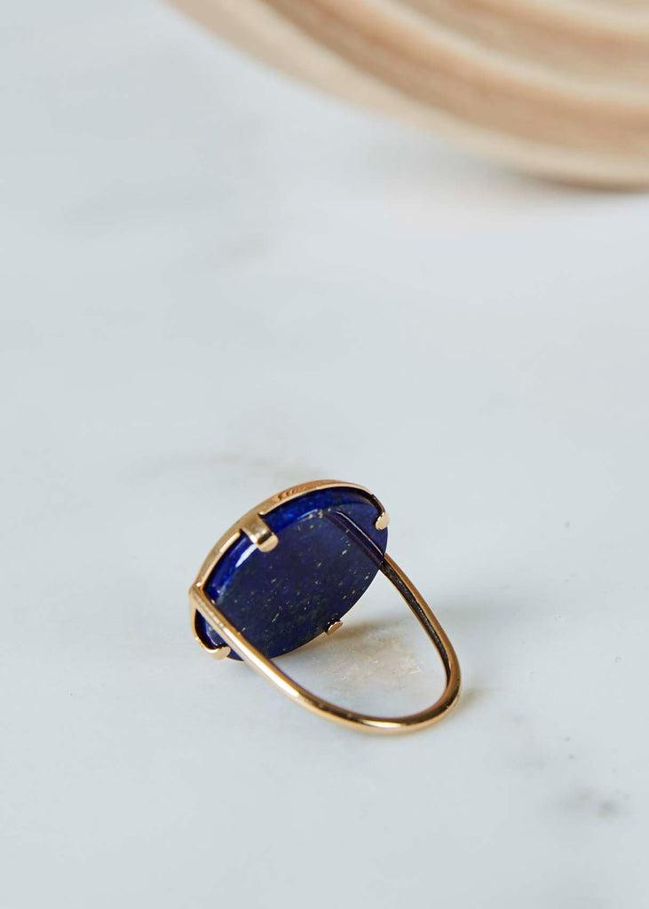 Ever Lapis Disc Ring
