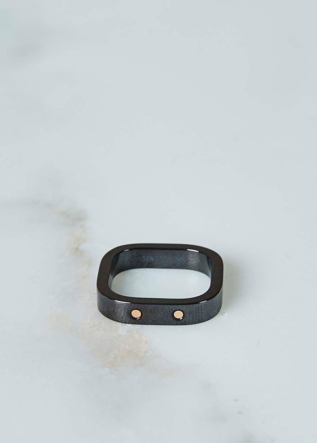 Ceramic and Gold TV Ring