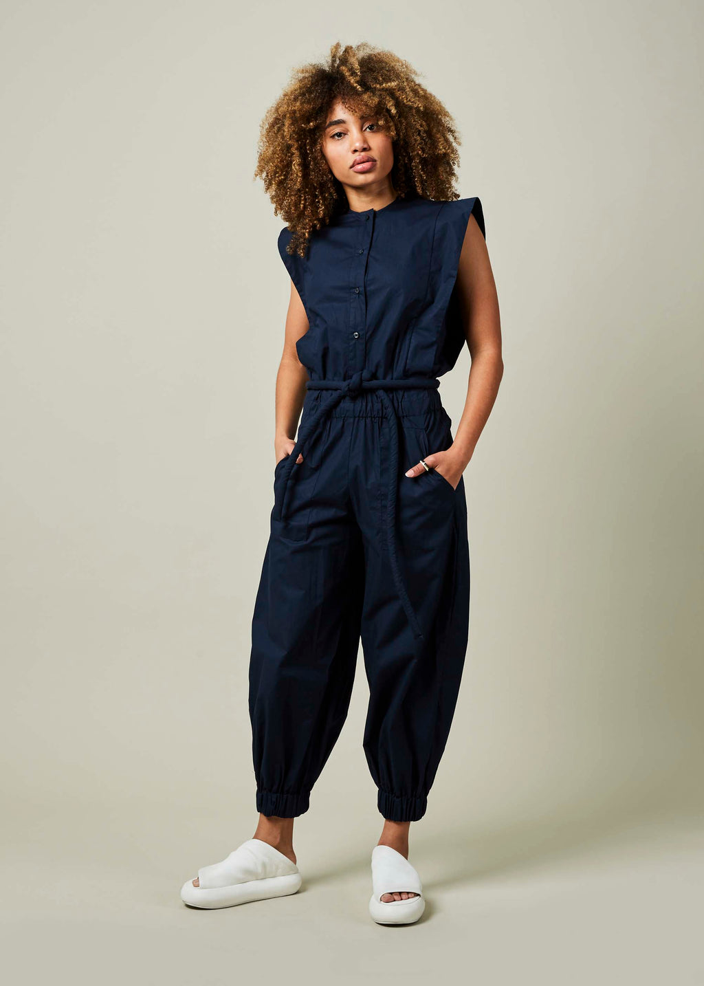 Nagore Sleeveless Jumpsuit