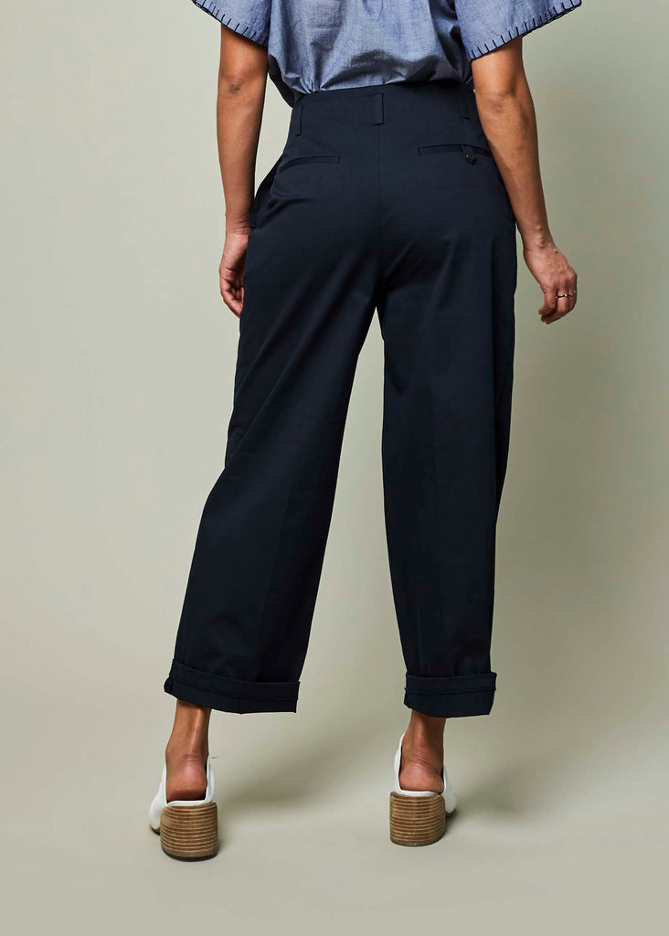 Double Pleat High-Waisted Trouser