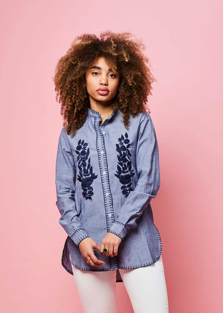 Paris Embroidered Shirt