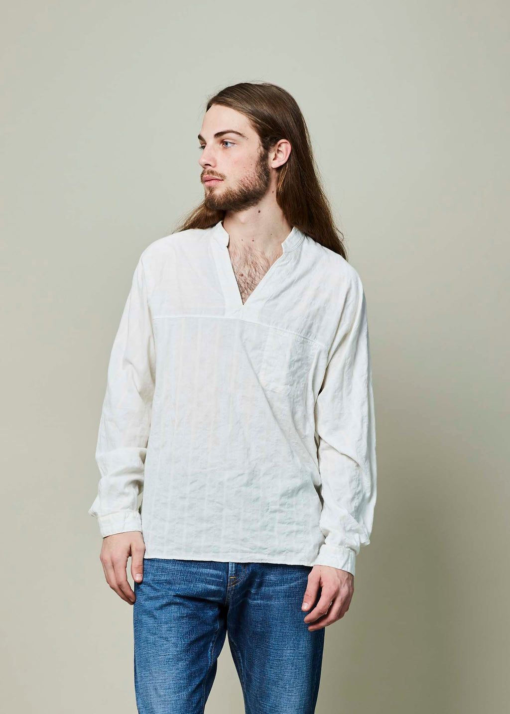 Embroidered V-Neck Shirt