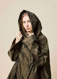 Hooded Oversize Spring Coat