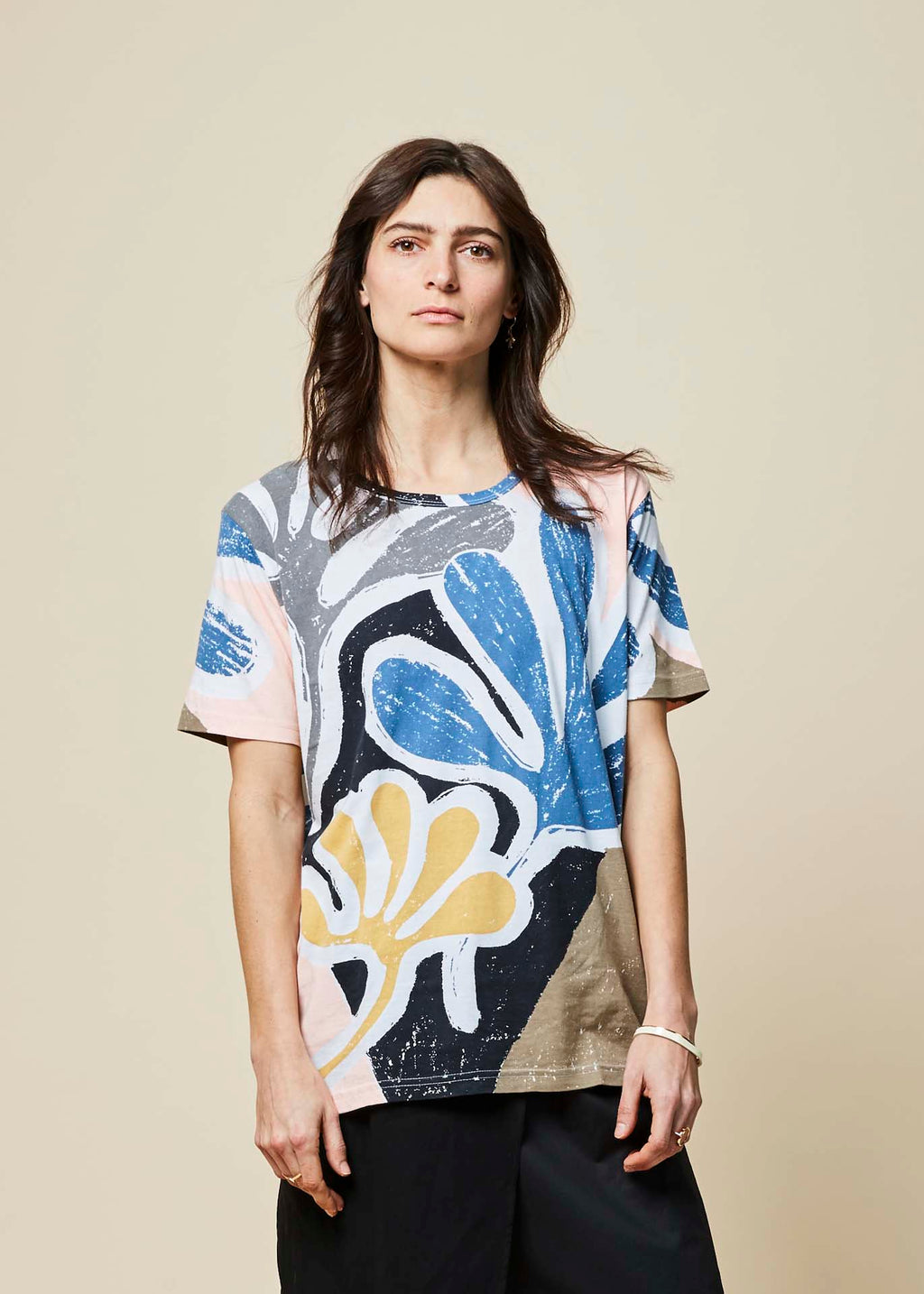 Abstract Leaf Boyfriend Tee