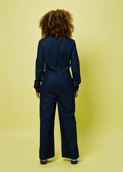 Four Pocket Denim Jumpsuit