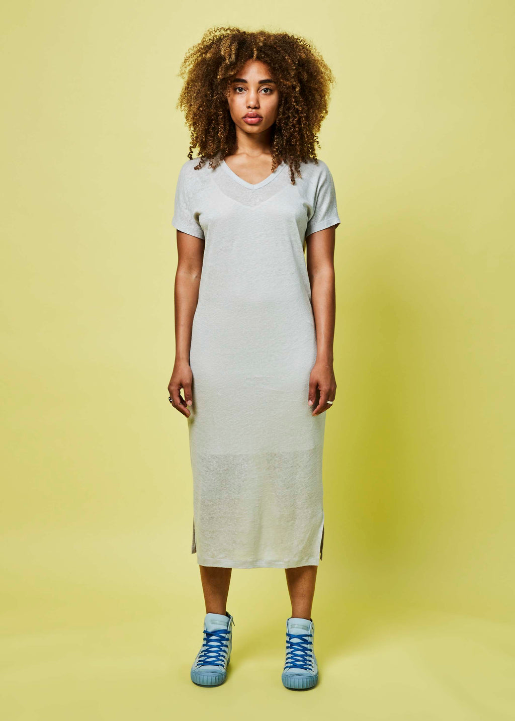 Long Linen T-Shirt Dress