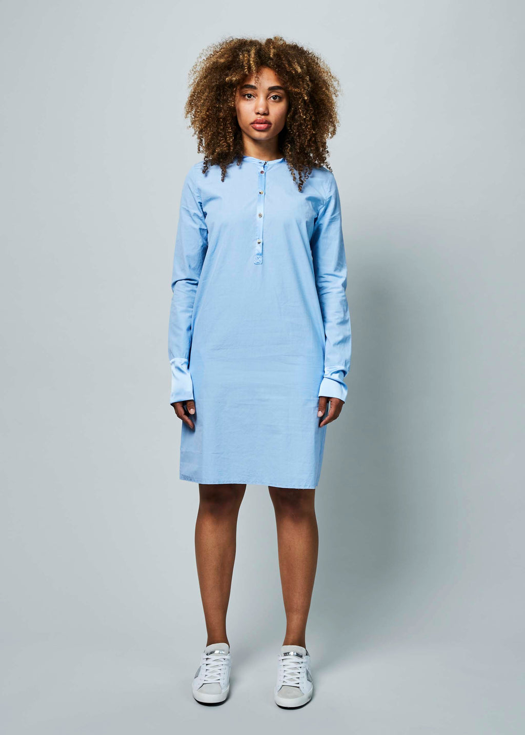 Silk Trim Shirtdress