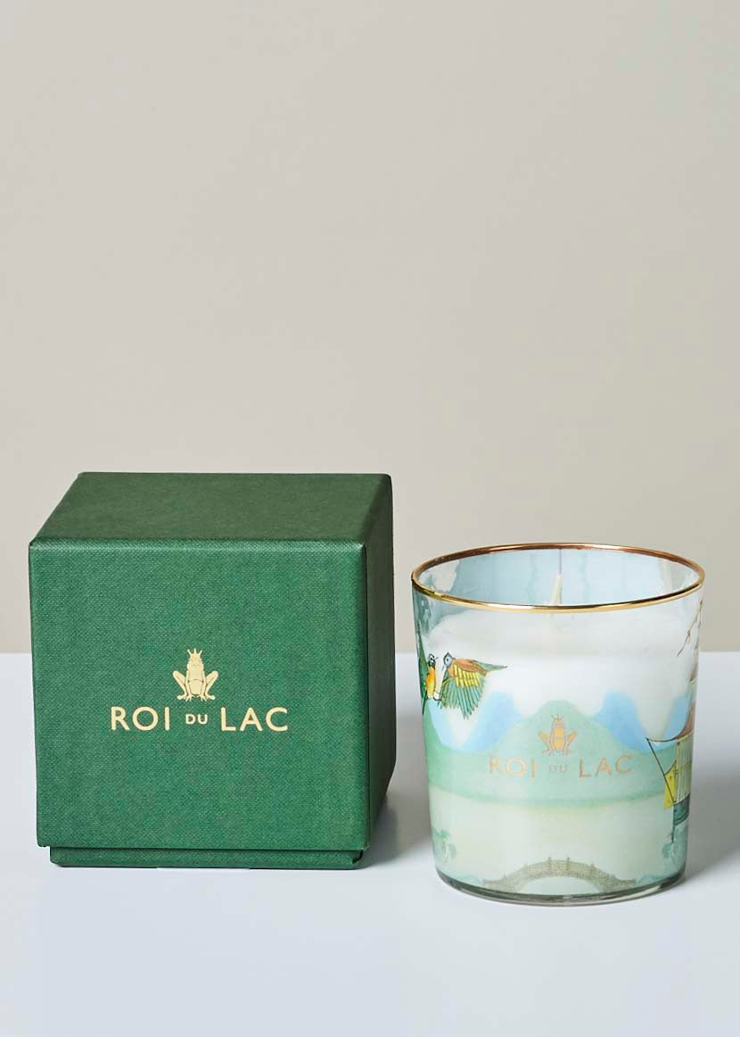 Sandalwood and Bergamot Fragrance Glass Candle