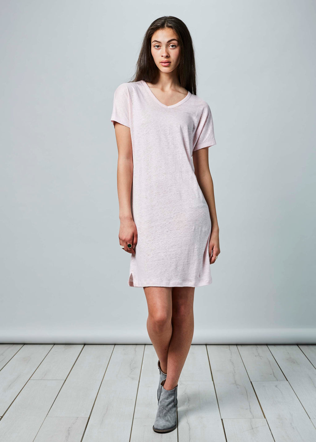 Short Linen T-Shirt Dress
