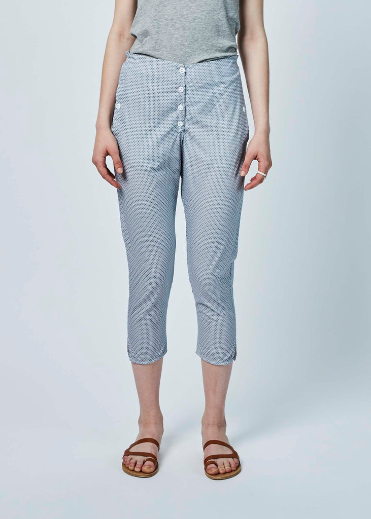 Button-Fly Print Pant