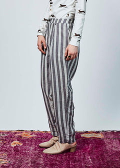Linen Pleated Crop Trouser