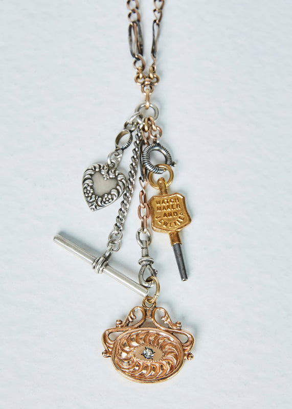 Jewels by Piper Watch Chain Charm Necklace