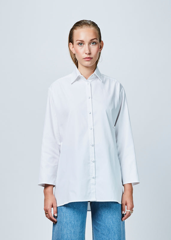 Crop Sleeve Tunic Shirt