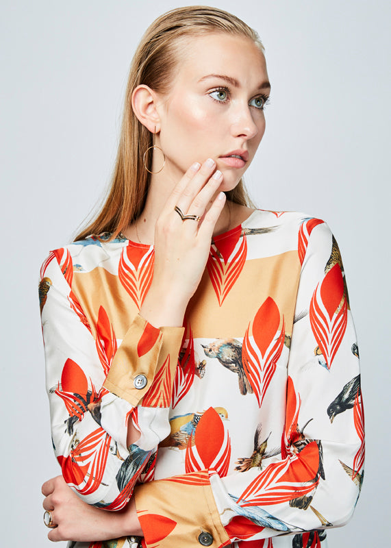 Silk Audubon Blouse