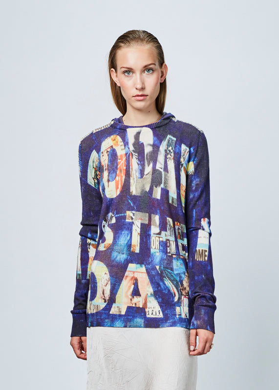 Printed Cashmere Blend Hoodie