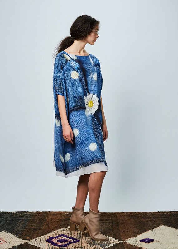 Daisy and Dots Oversize Dress