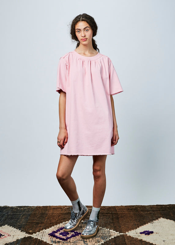 Short Sleeve Twill Dress