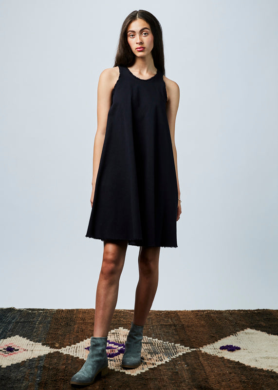 Sleeveless Cut-Off Dress