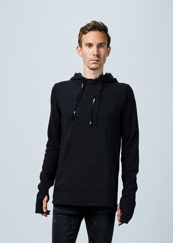 Hannes Roether Men's Hoody Reverse Sleeve Sweater