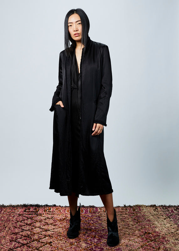 Long Rayon Duster Coat