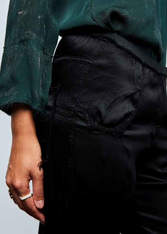 Tapered Rayon Easy Pant