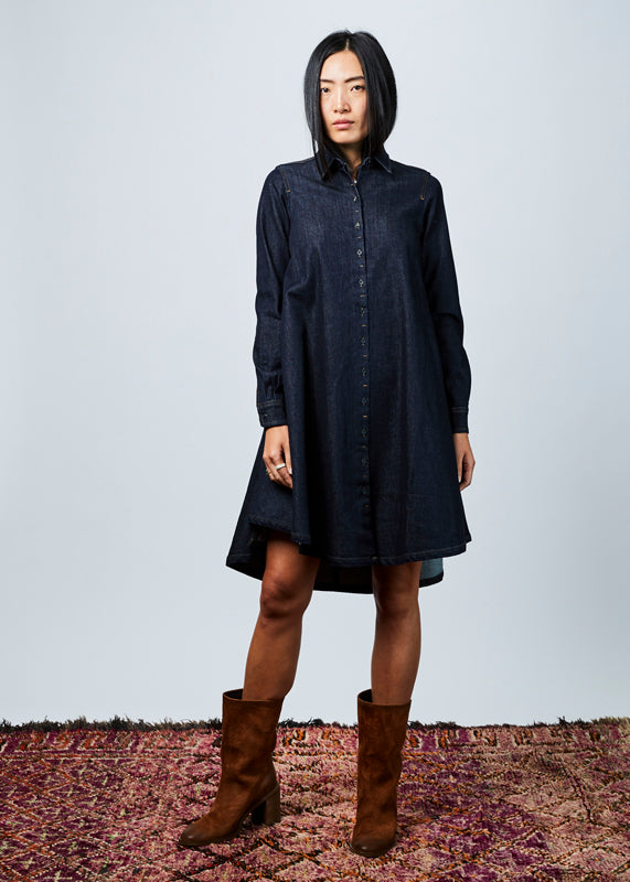 Frou Denim Dress