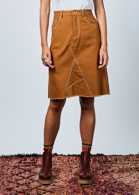 Asymmetric Canvas Skirt