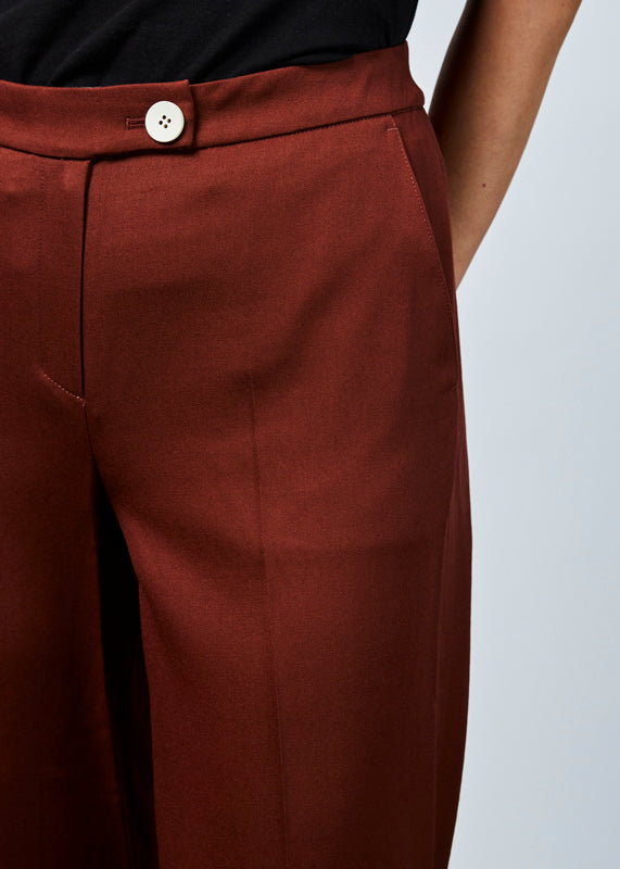 High Rise Wool Trouser