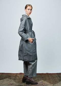 Oversize Lightweight Tie Coat